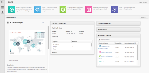 4.2's new Dashboard is easy to customize for quick collaboration.